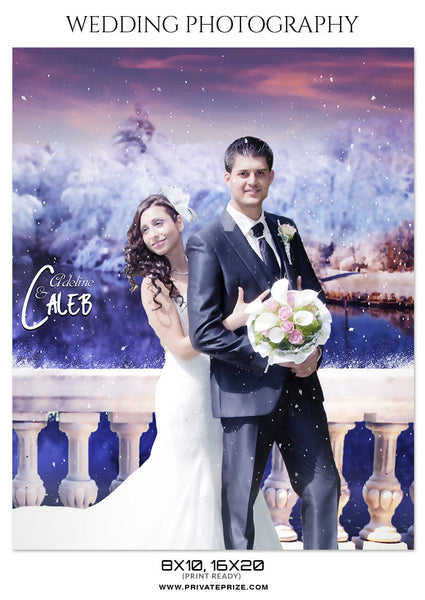 ADELINE AND CALEB  - WEDDING PHOTOGRAPHY - Photography Photoshop Template