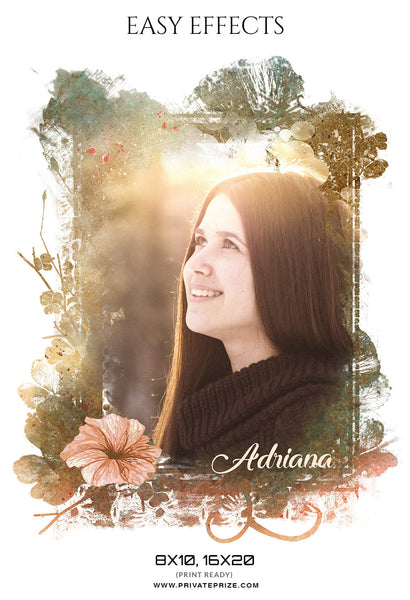 Adriana - Seniors Easy Effects - Photography Photoshop Template