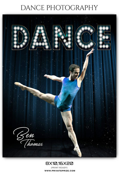 BEN THOMAS - DANCE PHOTOGRAPHY - Photography Photoshop Template
