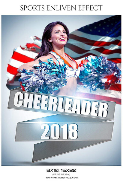 Cheerleader 2018 - Sports Photography Template - Photography Photoshop Template