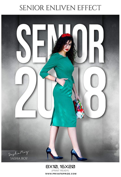 Sasha Roy - Senior Enliven Effect Photography Template - Photography Photoshop Template