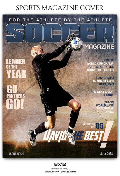 David Thompson - Soccer Sports Photography Magazine Cover