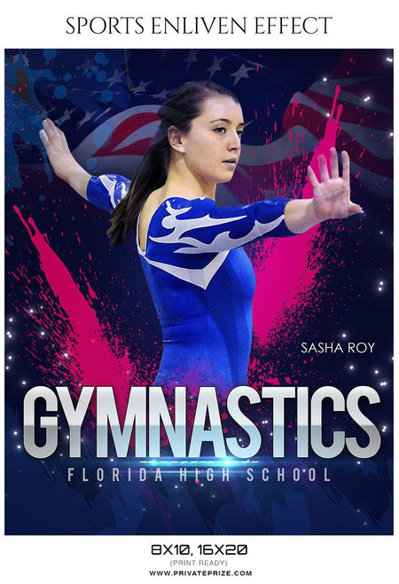 Sasha Roy - Gymnastics Sports Enliven Effect Photography Template - Photography Photoshop Template