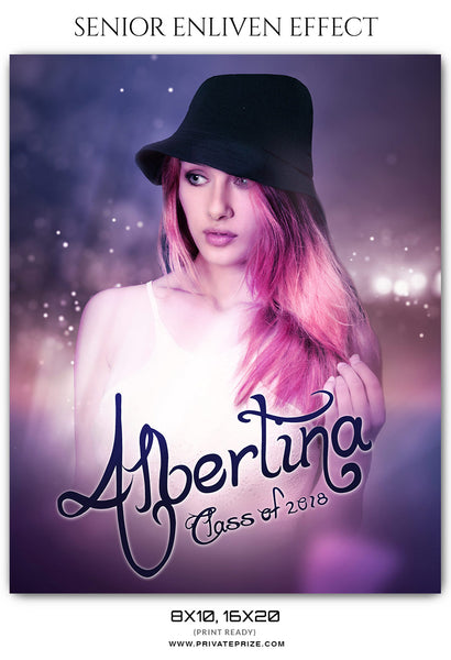 Albertina -Senior Enliven Effect Photography Photoshop Template
