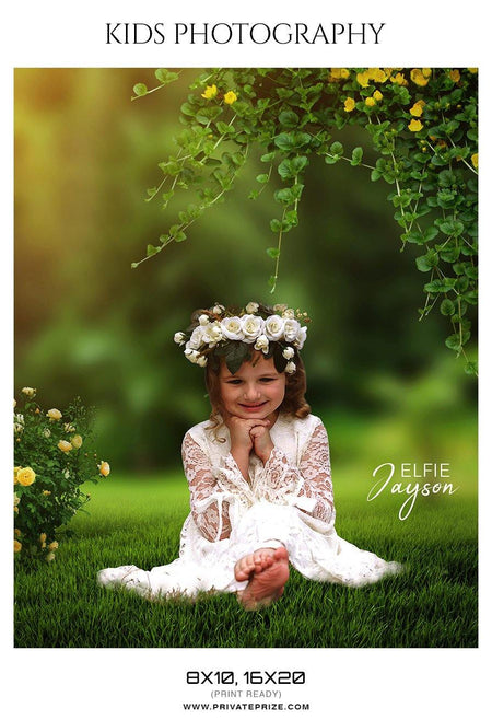 Elfie Jayson - Kids Photography Photoshop Templates - PrivatePrize - Photography Templates