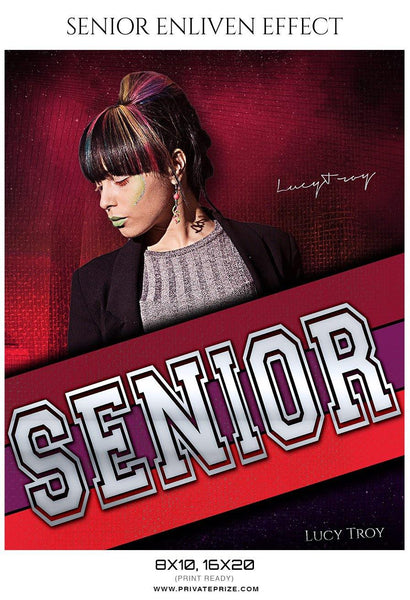 Lucy Troy - Senior Enliven Effect Photography Template - Photography Photoshop Template