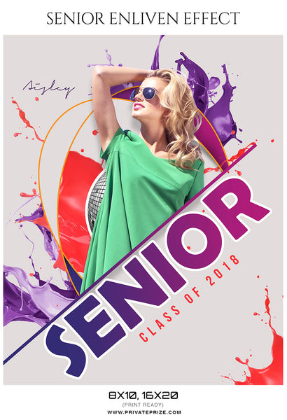 Aisley - Senior Enliven Effect Photography Template
