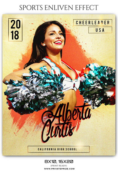 ALBERTA CURTIS CHEERLEADER- SPORTS PHOTOGRAPHY - Photography Photoshop Template