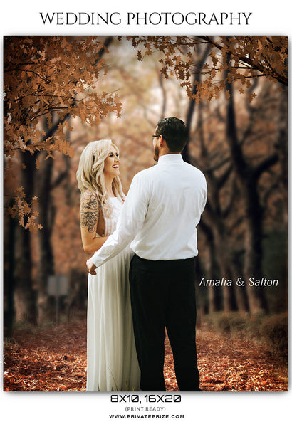 Amalia & Salton - Wedding Photography Photograph Template - Photography Photoshop Template