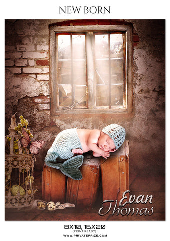 EVAN THOMAS - NEW BORN - Photography Photoshop Template