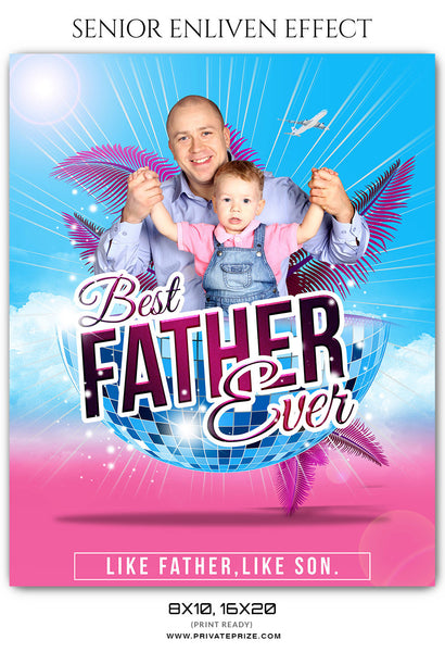 LIKE FATHER LIKE SON - FATHERS DAY PHOTOGRAPHY TEMPLATE - Photography Photoshop Template