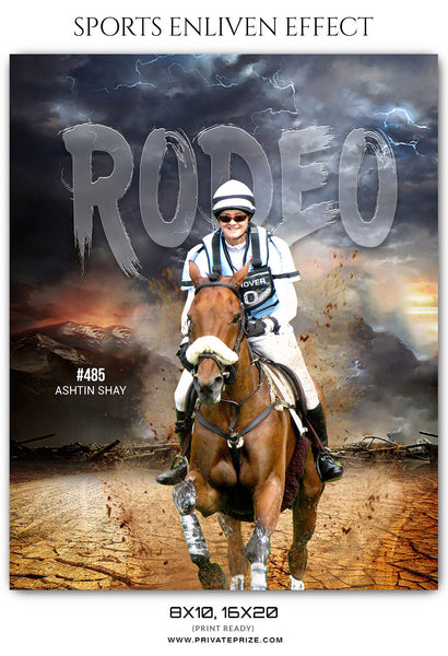 Ashtin Shay Rodeo Sports Enliven Effects Photoshop Template - Photography Photoshop Template