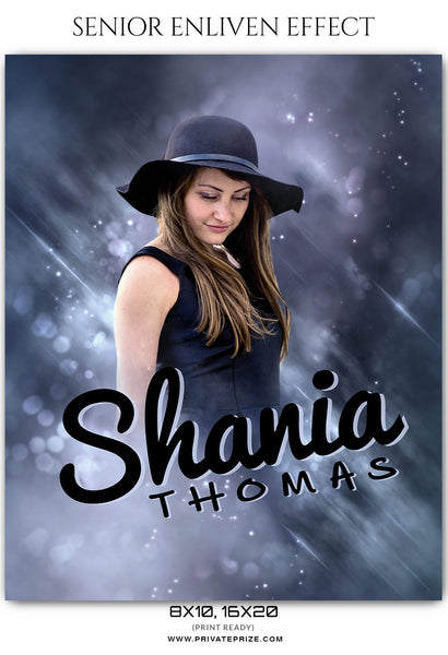 Shania Thomas - Senior Enliven Effect  Photoshop Template - Photography Photoshop Template