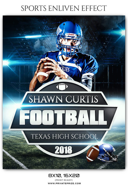 SHAWN CURTIS - FOOTBALL SPORTS PHOTOGRAPHY - Photography Photoshop Template