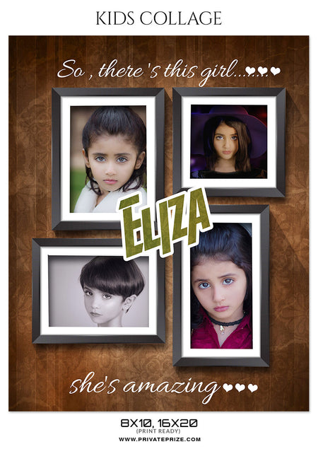 ELIZA - KIDS COLLAGE - Photography Photoshop Template