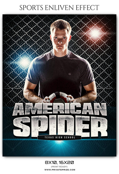 AMERICAN SPIDER SOCCER - SPORTS PHOTOGRAPHY - Photography Photoshop Template