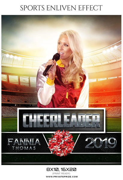 Fannia Thomas - Cheerleader Sports Photography Template - Photography Photoshop Template