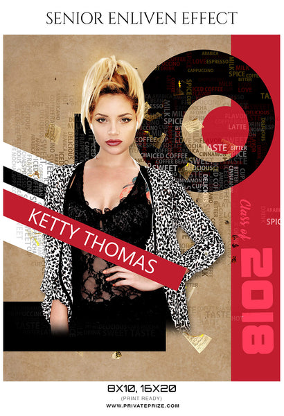 Ketty Thomas - Senior Enliven Effect Photography Template - Photography Photoshop Template