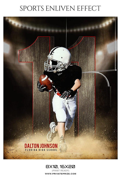 Dalton Johnson - Football Sports Enliven Effect Photography Template