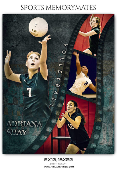 Adriana Shay Volleyball Sports Memory Mates Photoshop Template