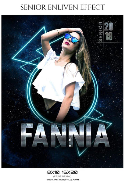 Fannia - Senior Enliven Effect Photography Template