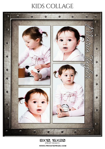 MARIA TAYLOR - KIDS COLLAGE - Photography Photoshop Template