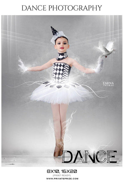 Earna Thomas - Dance Photography Templates - Photography Photoshop Template