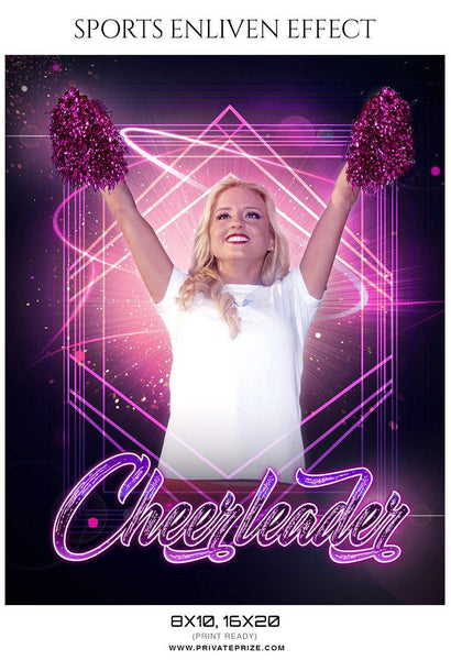 Cheerleader - Sports Photography Template - Photography Photoshop Template