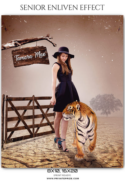 Tamara Max - Senior Enliven Effect Photoshop Template