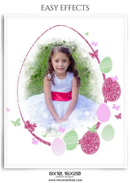 EASTER-EASY EFFECTS - Photography Photoshop Template