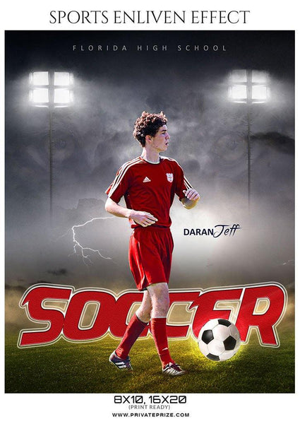Daran Jeff - Soccer Sports Enliven Effects Photography Template