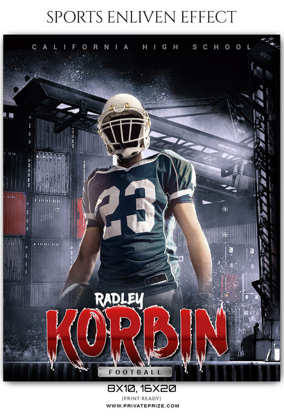 Radley Korbin - Football Sports Enliven Effects Photoshop Template