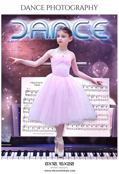 Dance - Dance Photography - Photography Photoshop Template