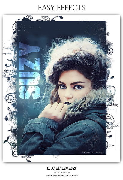 SUZY- EASY EFFECTS - Photography Photoshop Template