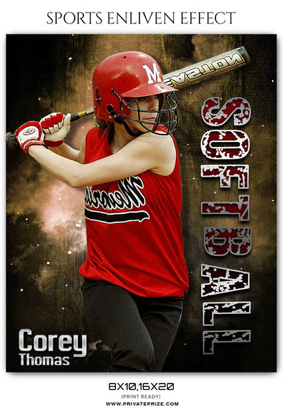 COREY THOMAS - SOFTBALL SPORTS PHOTOGRAPHY - Photography Photoshop Template