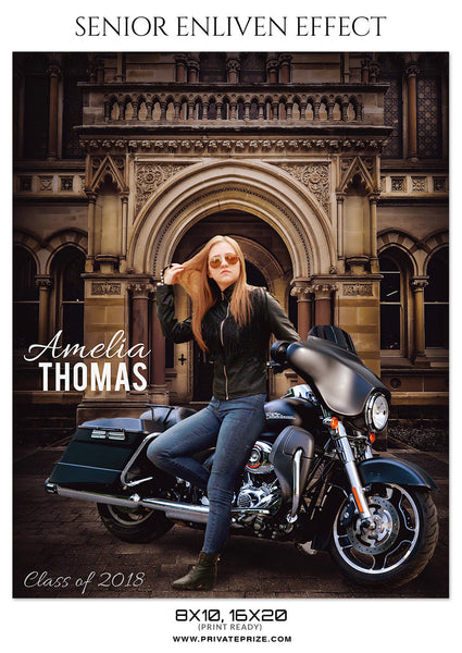 AMELIA THOMAS - SENIOR ENLIVEN EFFECTS - Photography Photoshop Template