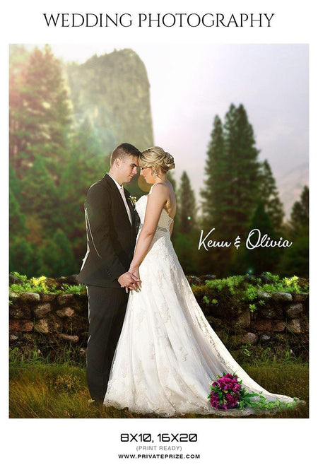 Kenn & Olivia - Wedding Photography photoshop templates - Photography Photoshop Template