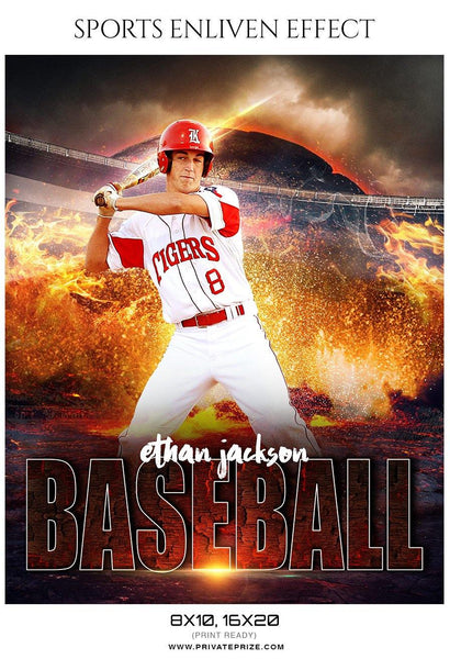 Ethan Jackson - Baseball Sports Enliven Effects Photography Template - Photography Photoshop Template
