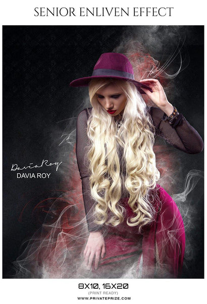 Davia Roy - Senior Enliven Effect Photography Template - Photography Photoshop Template