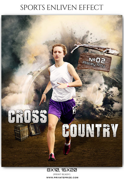 Aisley Roy Cross Country - Athletics Sports Enliven Effect Photography Template - Photography Photoshop Template