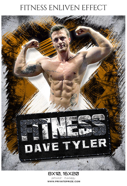 Dave Tyler - Fitness Sports Enliven Effects Photoshop Template - Photography Photoshop Template
