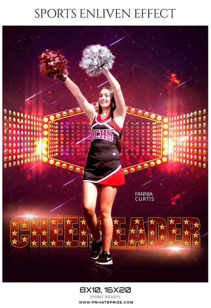 Fannia Curtis - Cheerleader Sports Photography Template - Photography Photoshop Template