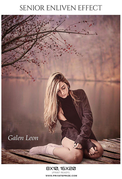 Galen Leon - Senior Enliven Effect Photography Template - Photography Photoshop Template