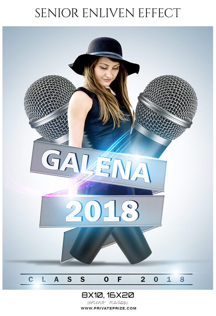 Galena - Senior Enliven Effect Photography Template