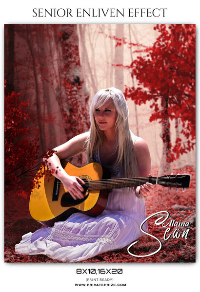 ALAINA SEAN - SENIOR ENLIVEN EFFECT - Photography Photoshop Template