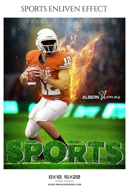 Albern Thomas - Football Sports Enliven Effects Photography Template