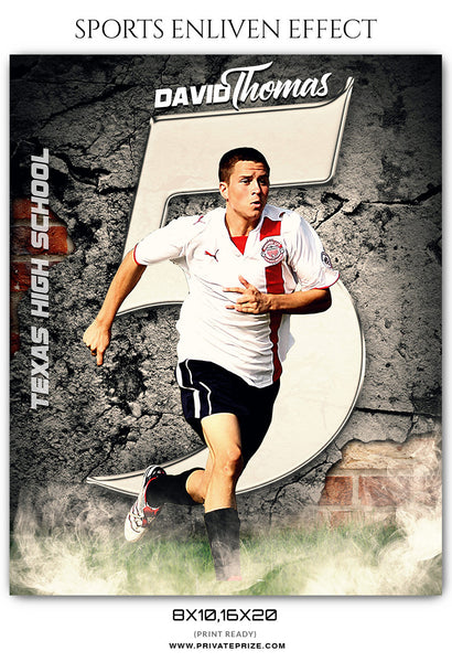 DAVID THOMAS - SOCCER - SPORTS ENLIVEN EFFECT - Photography Photoshop Template