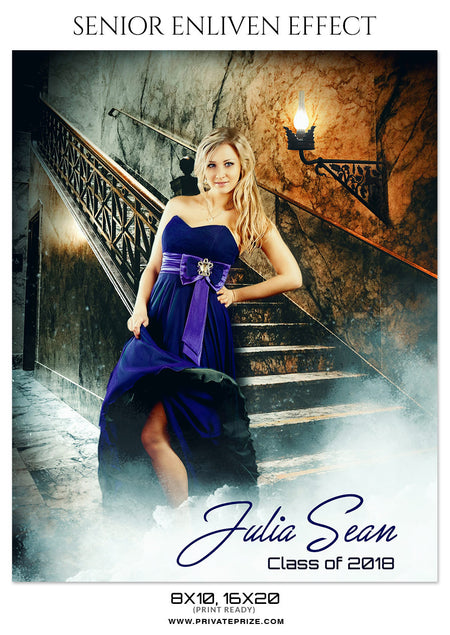 Julia Sean - Senior Enliven Photography Template - Photography Photoshop Template