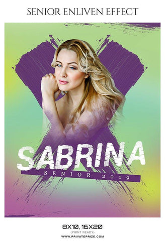 Sabrina - Senior Enliven Effect Photography Template