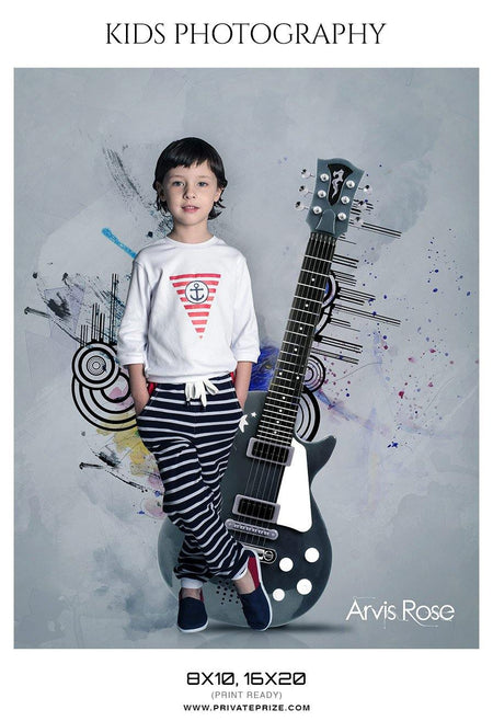 Arvis Rose - Kids Photography Photoshop Templates - Photography Photoshop Template